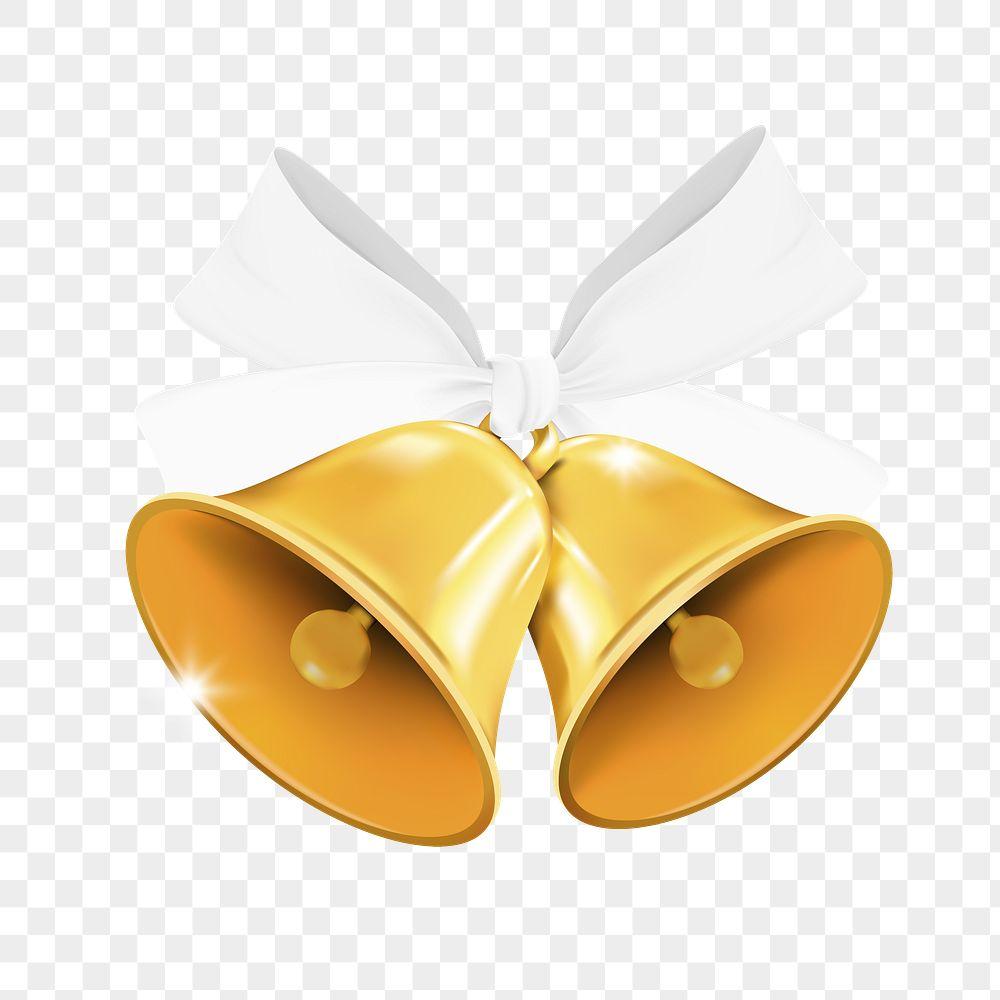 Gold Chrismas bell element vector