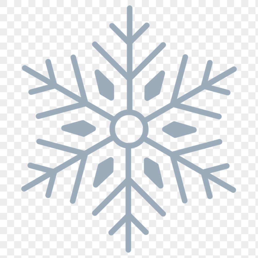 Snowflake Christmas social ads template transparent png