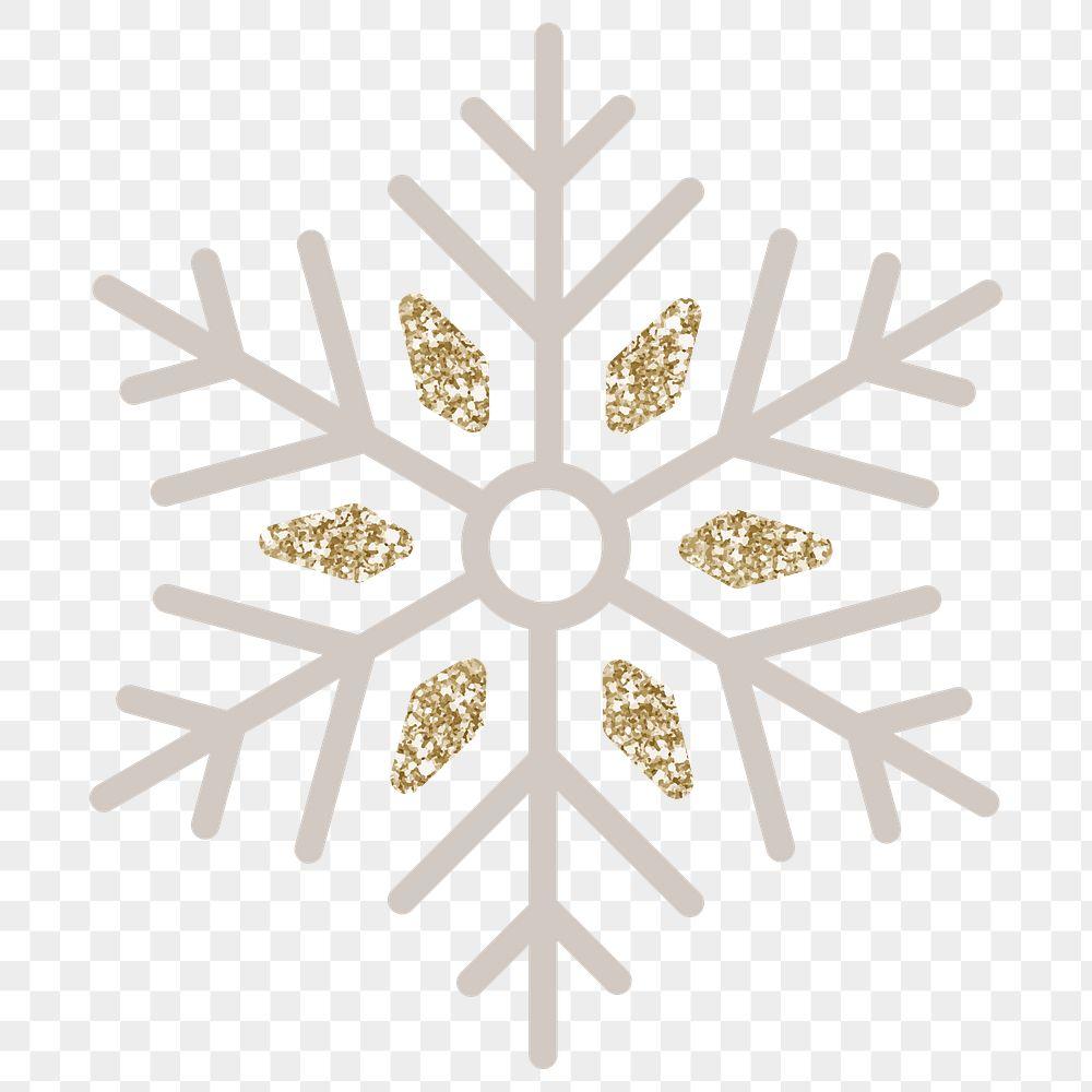 Glittery Christmas snowflake social ads template