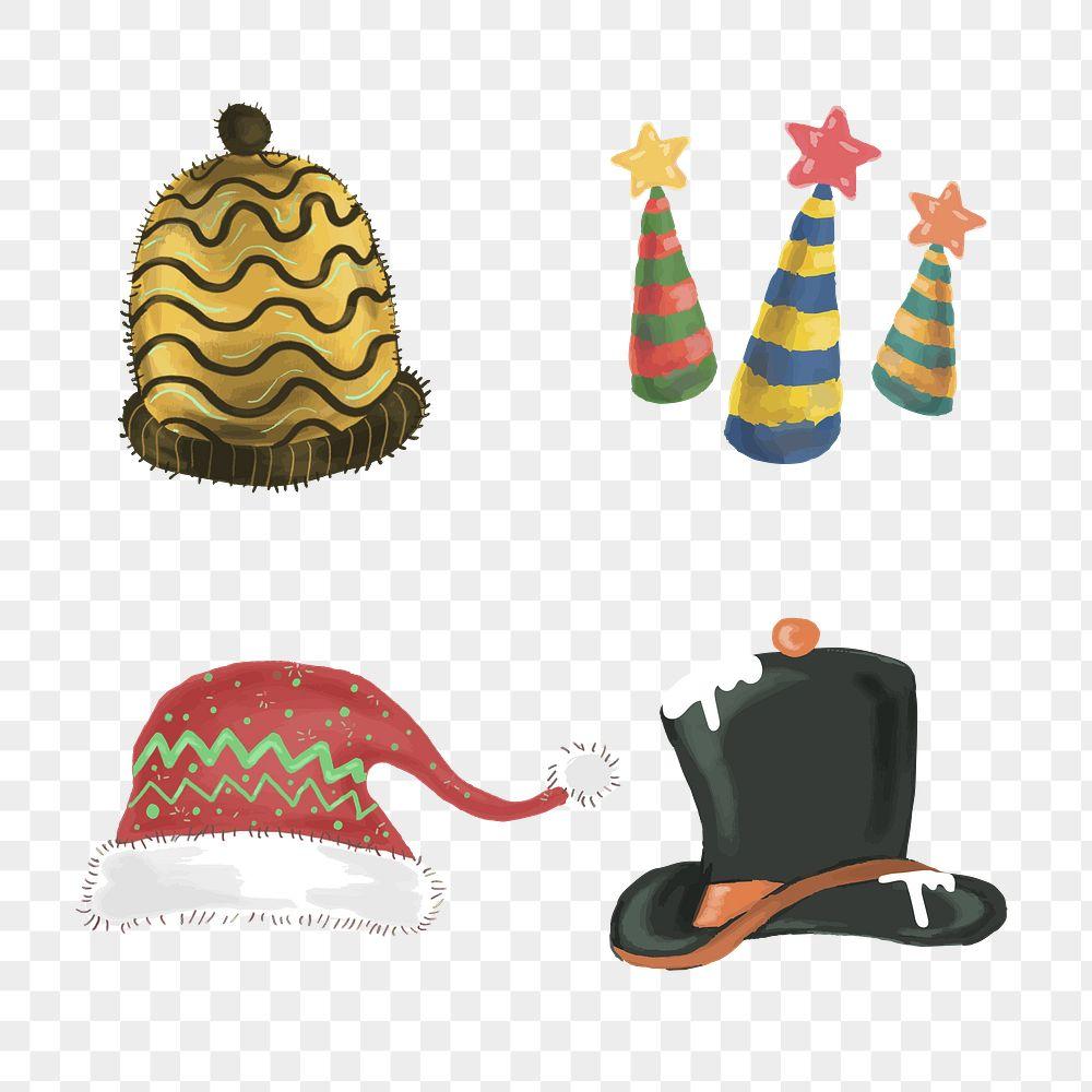 Cute Christmas elements illustration set