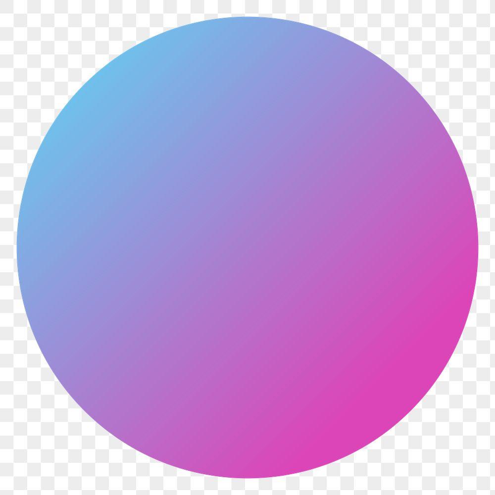 Colorful round gradient element transparent png