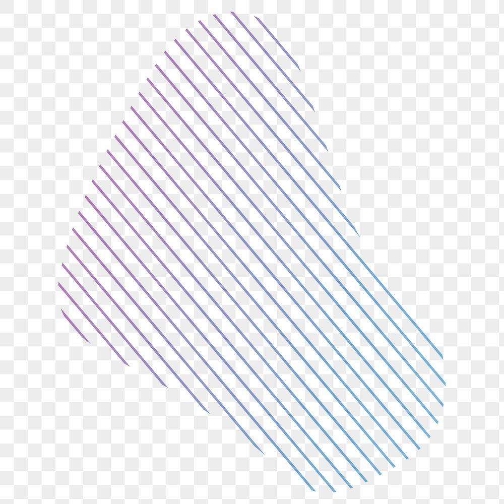 Colorful lines gradient element transparent png