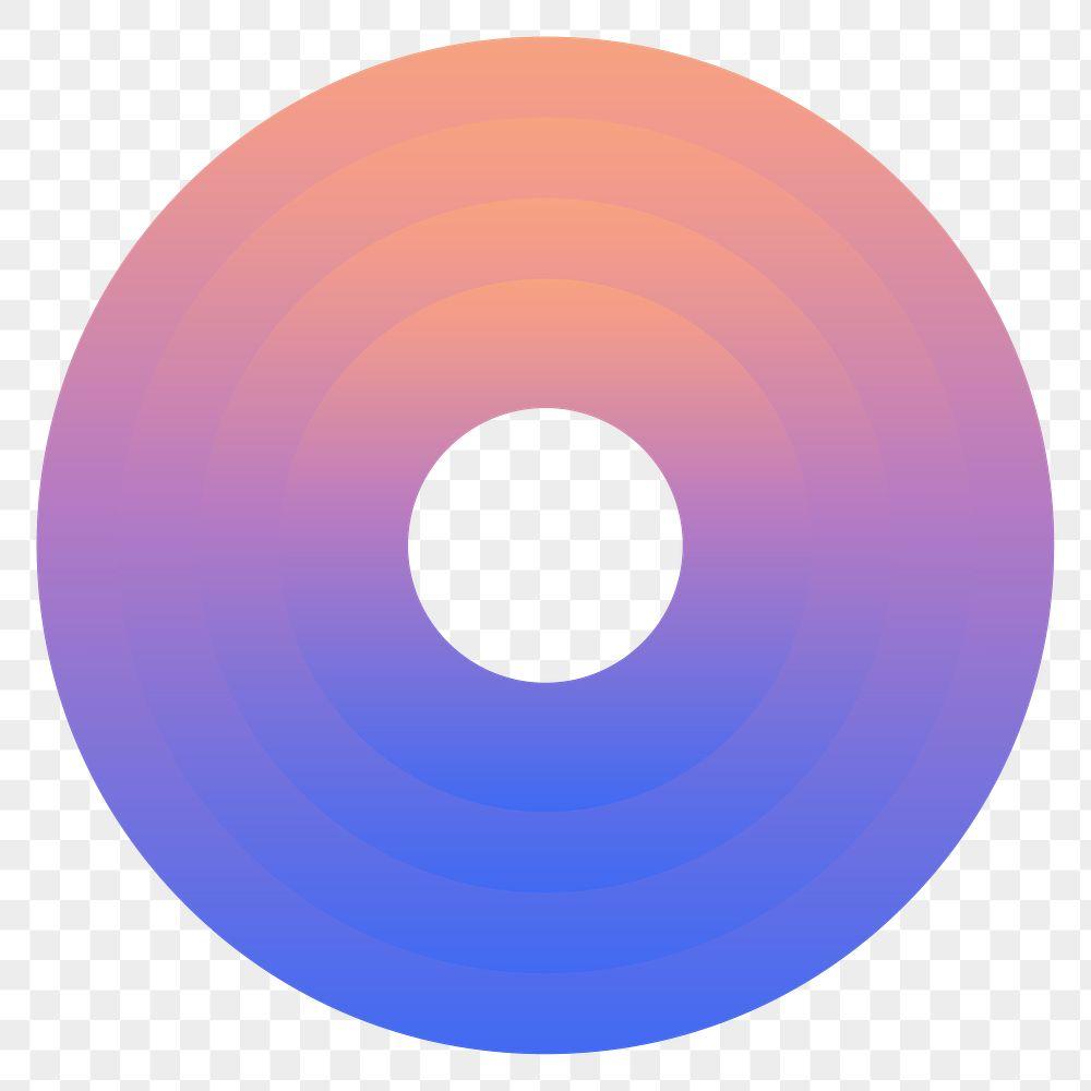Colorful ring gradient element transparent png