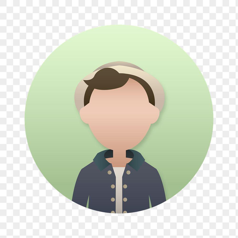 Hipster man avatar transparent png