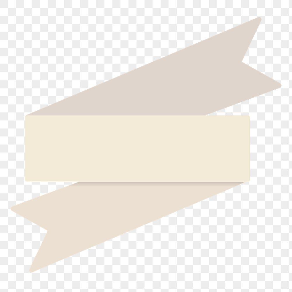 Beige ribbon banner template transparent png