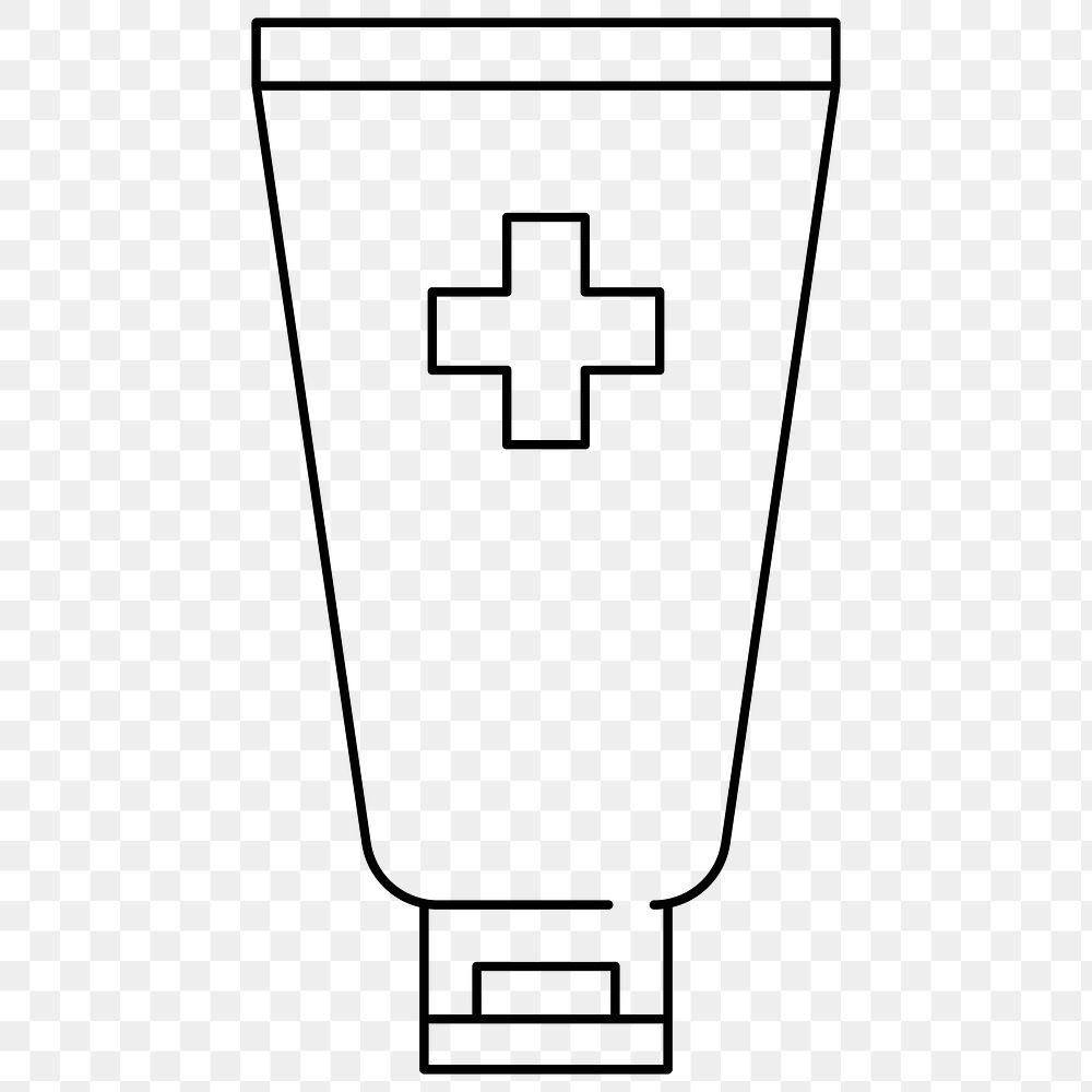 Alcohol hand sanitizer tube element to anti coronavirus element transparent png
