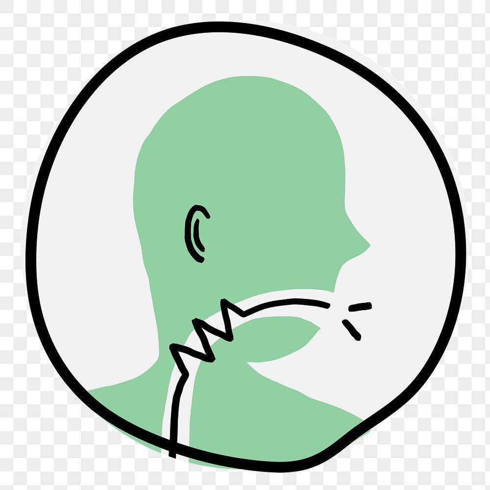 Sore throat coronavirus symptom icon transparent png