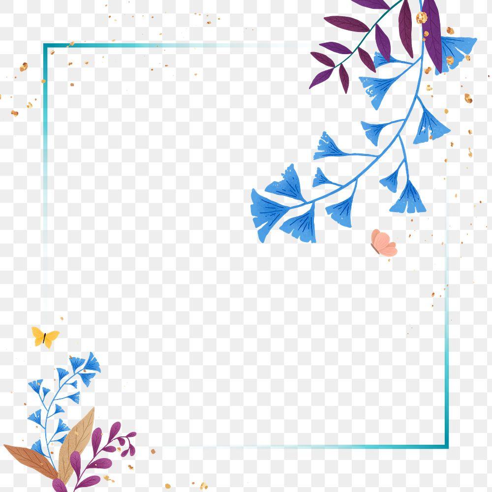 Ginkgo leaf png frame design